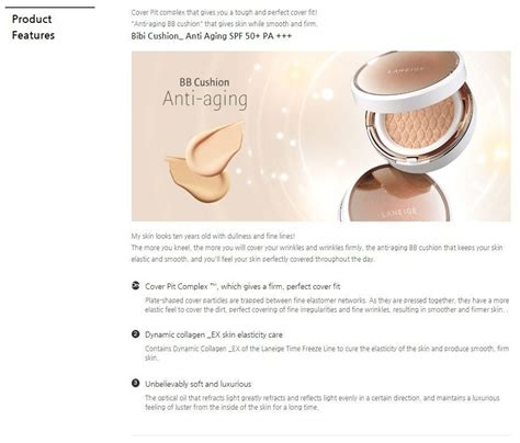 Bb Cushion Anti Aging With Refill laneige bb cushion anti aging korean cosmetic shop