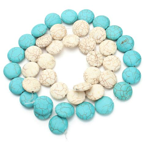 turquoise stones for jewelry 20pcs pack dia 2cm blue turquoise