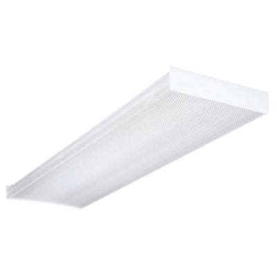 T8 Fluorescent Light Fixtures Home Depot Lithonia Lighting 4 Ft Wraparound Fluorescent Ceiling Fixture Sb 2 32 120 Gesb The Home Depot