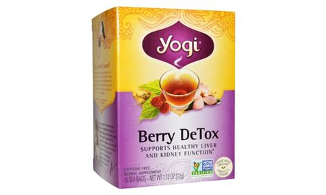 Yogi Berry Detox Test by Yogi Organic Berry Detox Tea 16 Bag 6 Pack Groupon