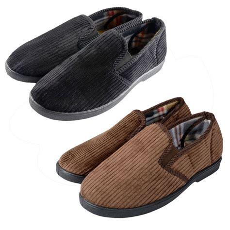 corduroy slippers mens corduroy comfy slippers with non slip sole