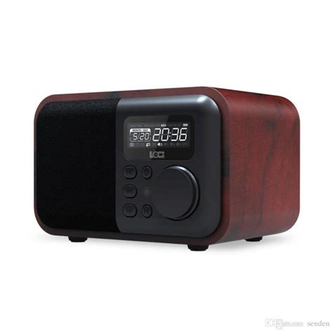 Speaker Bluetooth Ibox luxury wooden bluetooth speaker ibox d90 with mic fm radio alarm clock tf card usb