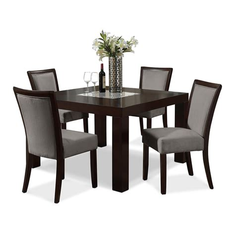 elegant table dining room black leather chairs and elegant table by