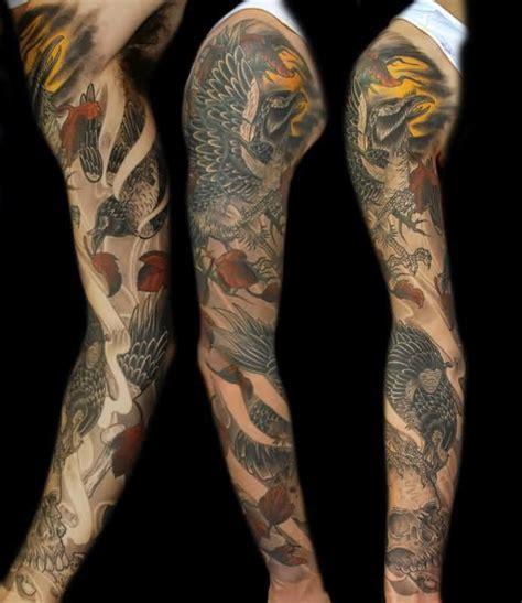 crow tattoos sleeve