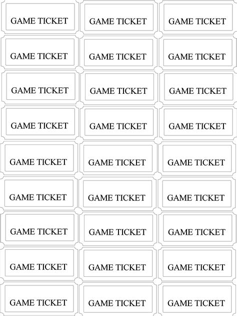 entry ticket template photo templates contest drawing