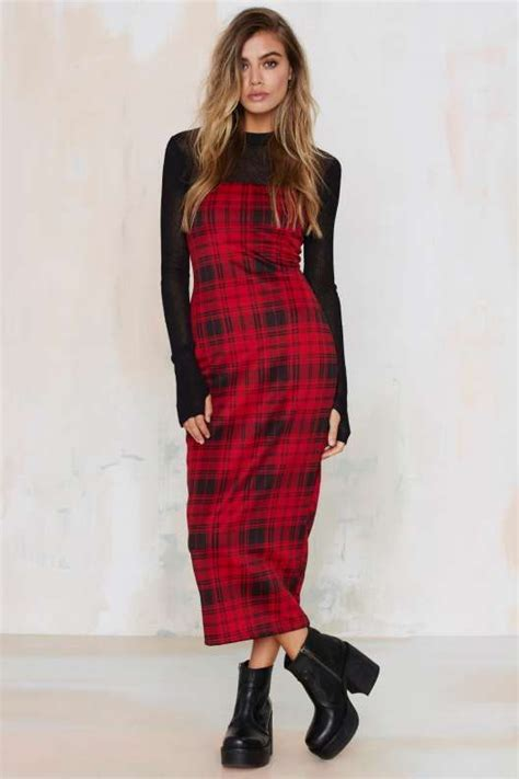 Bo Tartan Dress rope em in satin jumpsuit plaid dress and dresses