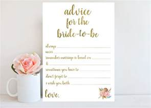 Bridal Shower Advice Cards Template by Custom Card Template 187 Bridal Shower Advice Cards Template