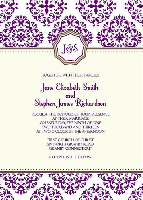 free printable wedding invitation monogram european pattern monogram wedding invitation 72