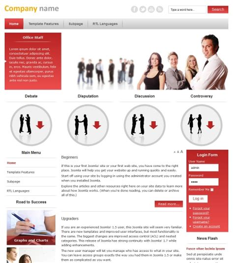 business template joomla jm business marketing free responsive joomla template