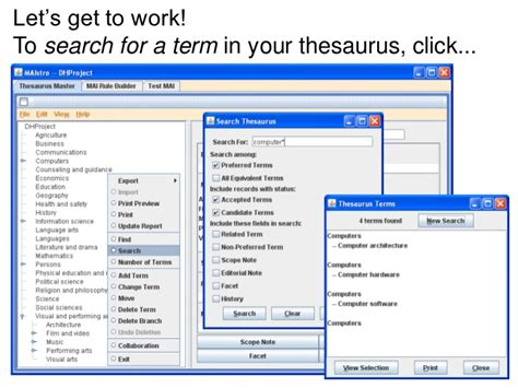 workflow thesaurus data harmony thesaurus master 174