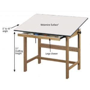 Drafting Table Size Alvin Titan Solid Oak Drafting Table 31x42x37