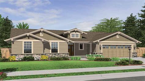one story house plans craftsman style one story craftsman