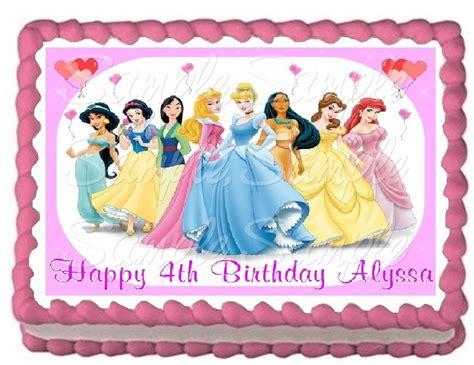 disney princess birthday edible image cake toppers birthday wikii