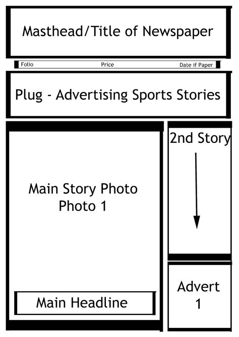 best photos of front page newspaper template blank front