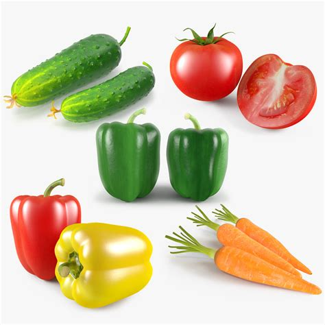 vegetables 3d max vegetable tomato green 3d max