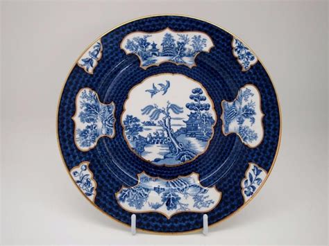 old blue pattern plates rare booths scale willow old willow pattern blue white