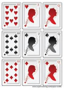 deck of cards book template deck of cards with silhouettes printable template