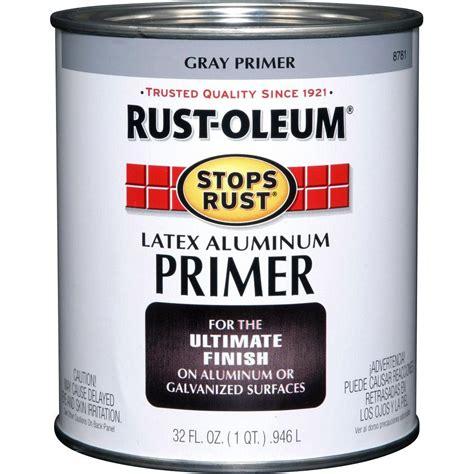 rust oleum stops rust 32 oz aluminum flat rust preventive