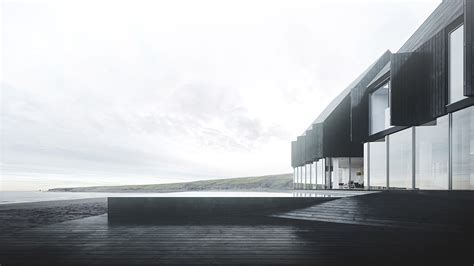 minimal architecture minimal architecture on a solitary iceland landscape