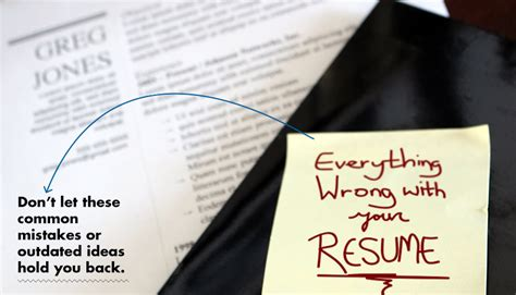 Resume Mistakes by Everything Wrong With Your Resume Primer
