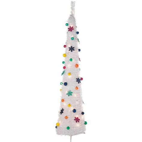 pop up jolly holidays white christmas tree 6ft