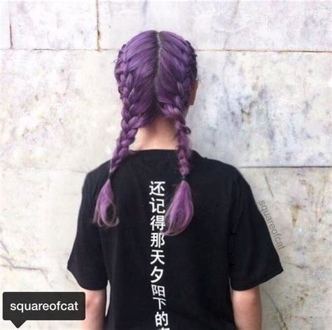 purple hair happy or crappy randomness it s best squareofcat image 4118326 by helena888 on favim com