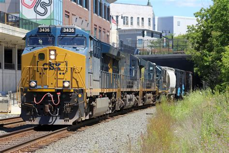 a lengthy csx is seen in pittsfield ma the nerail new