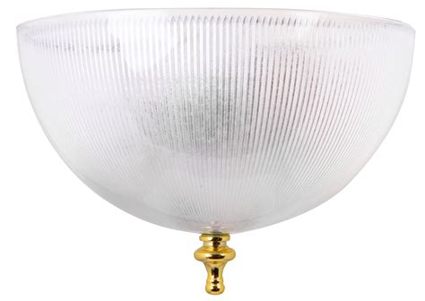 clip on ceiling light shade ribbed clear finish ebay