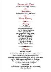 wedding ceremony order of service template brambles wedding stationery order of service pages