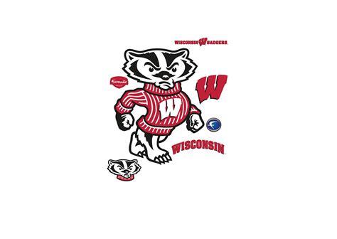 Wisconsin Badgers wisconsin badgers mascot bucky badger wall decal shop