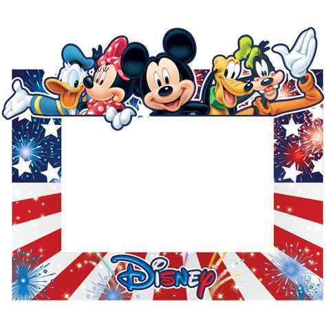 Scd 0403 Disney Only freedom mickey minnie donald pluto goofy picture frame