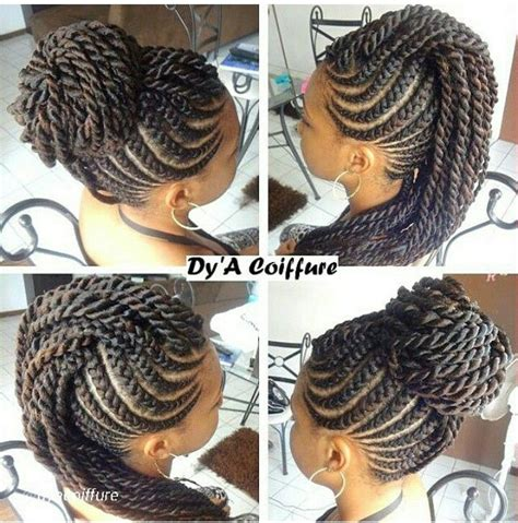 mohawk braid with senegalese twist 1000 images about braids twist crochet styles on