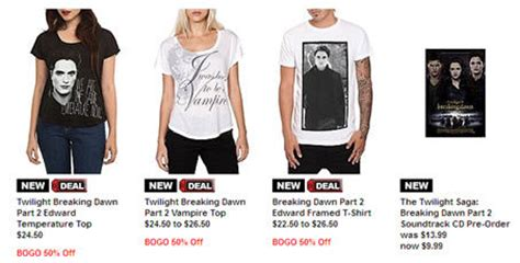 Does Hot Topic Have Gift Cards - buytwilightstuff twilight merchandise clothes and jewelry part 2