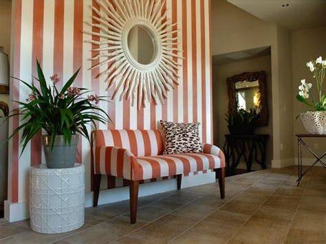 decorating with stripes for a stylish room stylish entryways hgtv