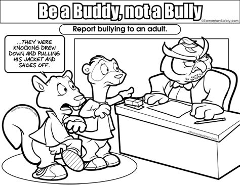 anti bullying coloring pages for kindergarten coloring be buddy not bully