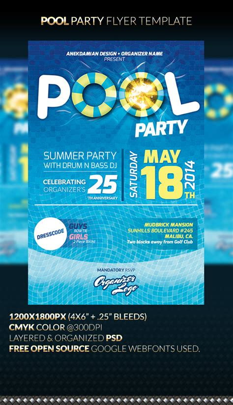 free pool flyer templates pool flyer template by anekdamian on deviantart