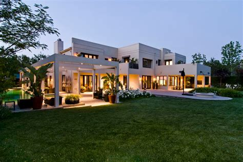 huge luxury homes big contemporary house with dark interior filled with