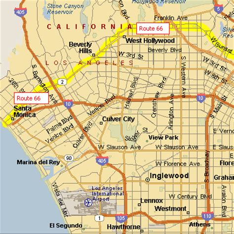 california map route 66 route 66 on the air in los angeles and santa