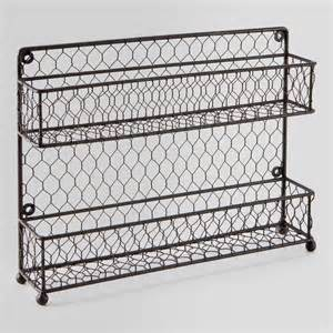 Black Wire Spice Rack Wire Two Tier Spice Rack World Market