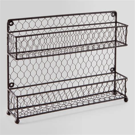 Wire Spice Racks For Cabinets Wire Two Tier Spice Rack World Market