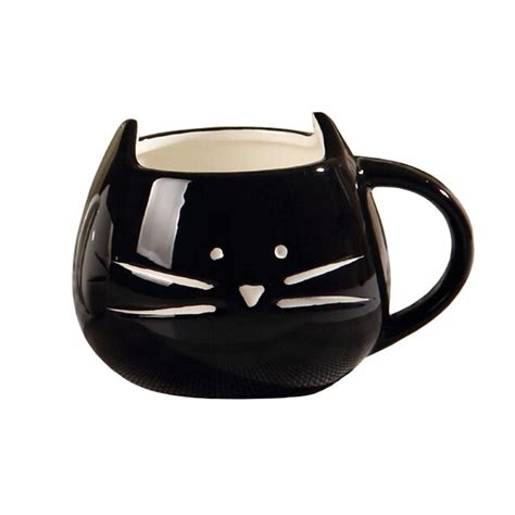 Cat Mug 1 ceramic cat mug 1 white black food grade ceramic