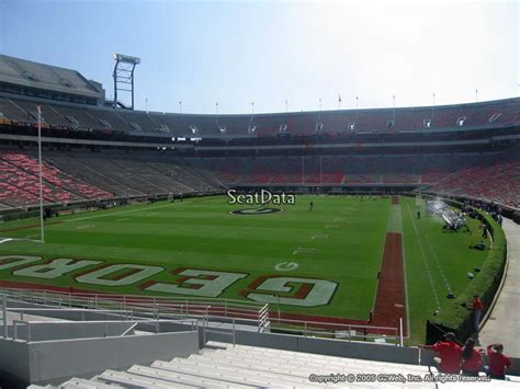 sanford stadium student section sanford stadium section 139 rateyourseats com