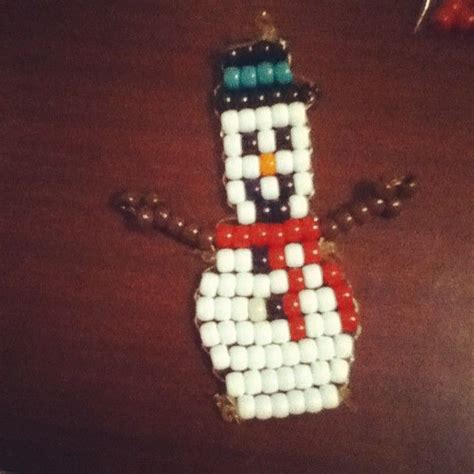 pony bead snowman 1000 images about figures on pony bead