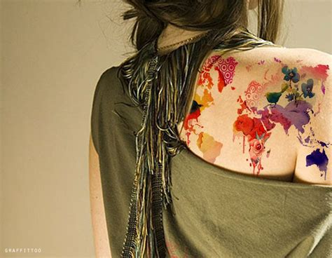 watercolor tattoos manchester best 25 world map tattoos ideas on world