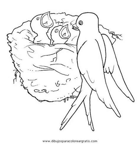 dibujo de golondrina para colorear dibujos de animales animales golondrinas 0