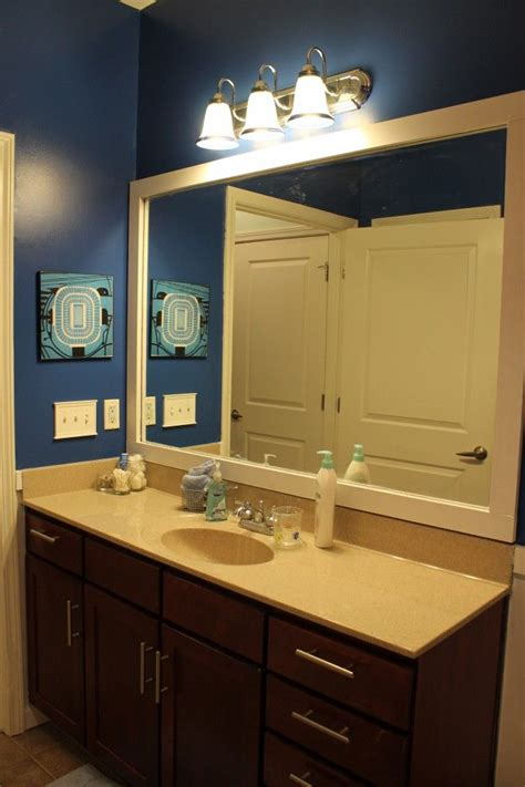 this thrifty house framed bathroom mirror who framed the bathroom mirror bathroom mirrors and house