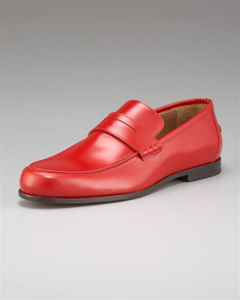 jimmy choo loafer lyst jimmy choo shiny leather loafer in for