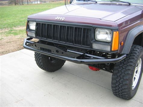 prerunner jeep xj rusty s bumper pre runner series 2 with winch plate