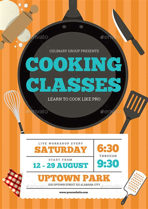 Cooking Show Template Cooking Classes Flyer By Guuver Graphicriver