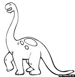 brontosaurus outline clipart
